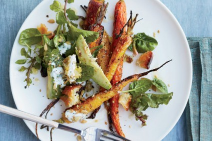 Roasted Carrot and Avocado Salad with Citrus Dressing