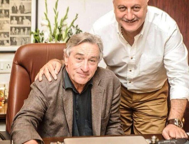 "Anupam Kher's luncheon with Robert De Niro in New York  Anupam Kher says he felt ""blessed"" to invited by Robert De Niro for lunch at his residence in New York."