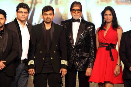 Riyaz and reshma Gangji of Libas designed special tuxedos for Amitabh Bachchan,Arshad Warsi and Meet Brothers at mahurat of Anees Bazmi film Aankhen 2 at Filmcity