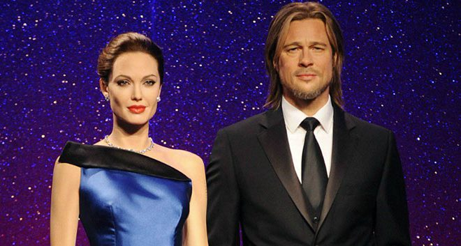 Madame Tussauds Separated Brad And Angelina's Wax Statue