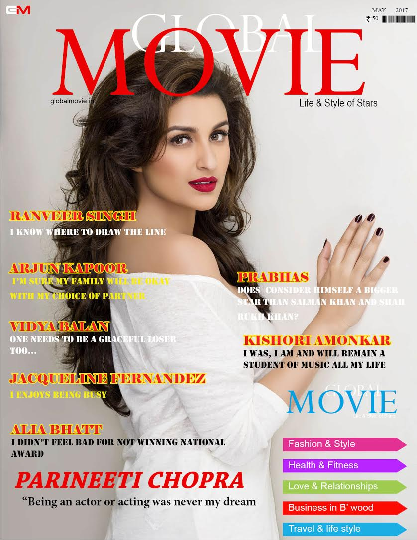 GLOBAL MOVIE MAGAZINE COVER -MAY 2017