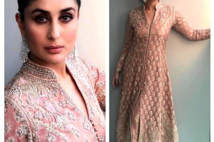 Fashion Pick of the Day: Kareena Kapoor Khan wears a gold-frosted rose ensemble and we can't even blink!