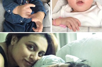 Karan Johar's twins Yash and Roohi will make their first public appearance on Rani Mukerji's daughter Adira's birthday bash Adira will have a great birthday bash and some starry little guests as well.