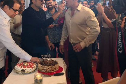 Anil Kapoor and Salman Khan celebrate their birthday together on the sets of Race 3