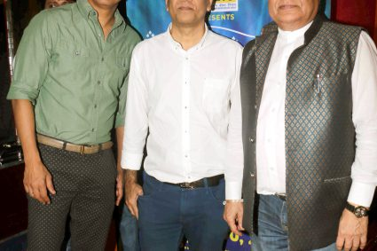 Padamshri Anup Jalota, Shaan and Saurabh Daftary of Sangeetam Charitable Trust came for rehearsal of Rehmatein 5 at Andheri West.