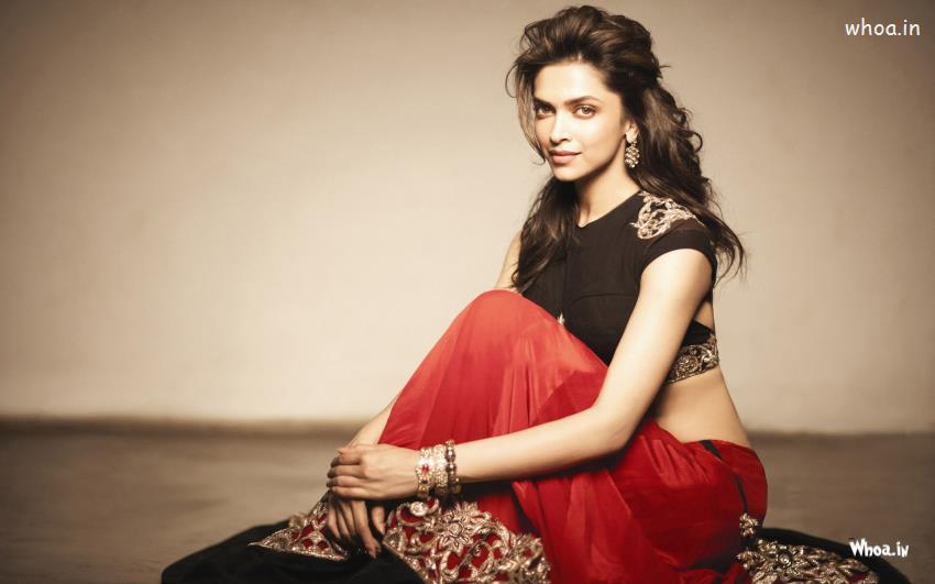 Deepika-Padukone-Black-Lehenga-Choli-HD-Actress-Wallpaper