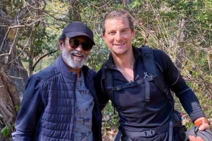 Superstar Rajinikanth makes his television debut with Into The Wild with Bear Grylls