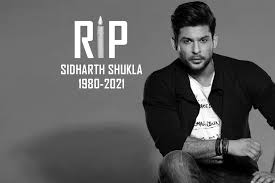 Actor Sidharth Shukla has died of a heart attack at the age of 40